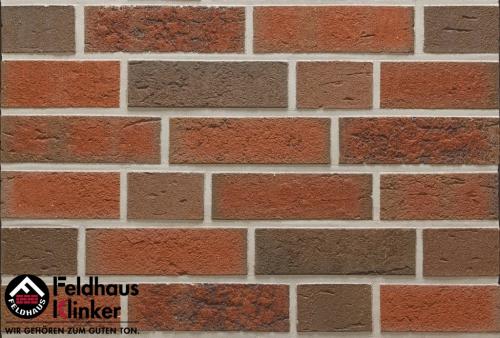 Клинкерный кирпич Feldhaus Klinker K377NF lava maron rustico