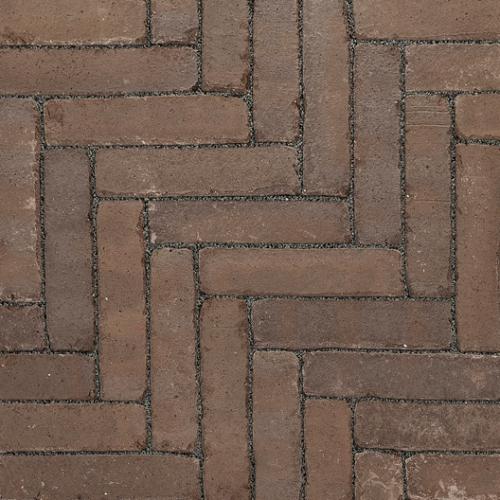 Ручной формовки брусчатка Vandersanden шлифованная, устаренная Grenada Nostalgie (коричневая, гладкая, устаренная, не опесоченная)