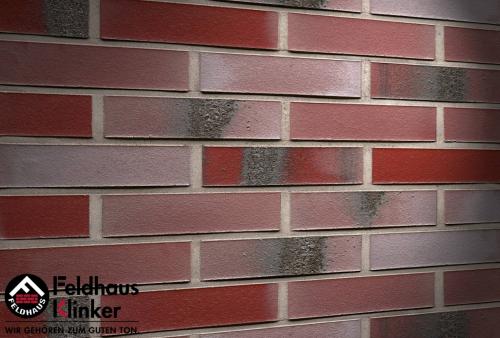 Клинкерный кирпич Feldhaus Klinker K563NF carbona ardor rutila