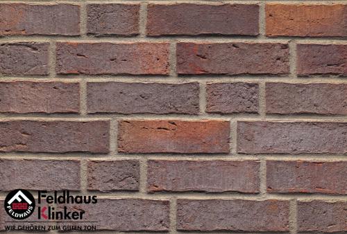 Клинкерный кирпич Feldhaus Klinker K662NF sintra lava azur