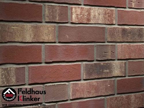 Клинкерный кирпич Feldhaus Klinker K746NF vascu cerasi rotado Wasserstrich
