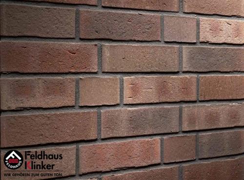 Клинкерный кирпич Feldhaus Klinker K748NF vascu geo merleso Wasserstrich