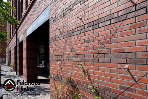 Клинкерный кирпич Feldhaus Klinker K752NF vascu ardor carbo Wasserstrich