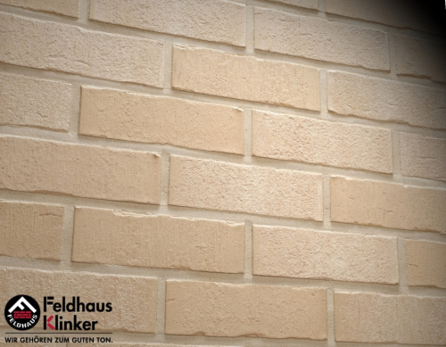 Клинкерный кирпич Feldhaus Klinker K762NF vascu sabioso blanca Wasserstrich