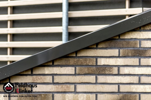Клинкерный кирпич Feldhaus Klinker K773NF vascu argo antrablanca Wasserstrich