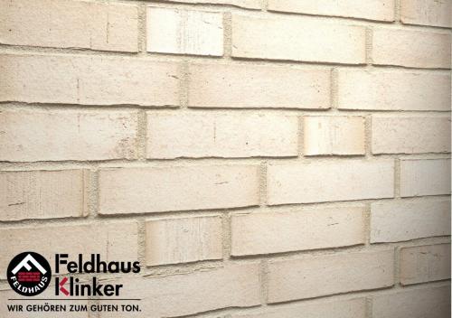 Клинкерный кирпич Feldhaus Klinker K910NF Premium vario crema albula