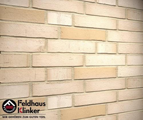 Клинкерный кирпич Feldhaus Klinker K911NF vario crema albula