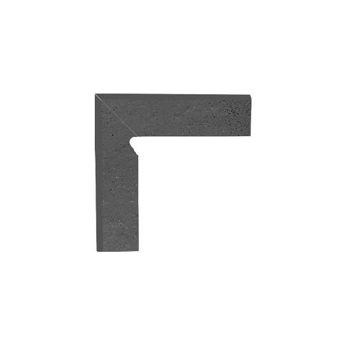 Paradyz Semir Grafit плинтус левый структурный 2-х элем