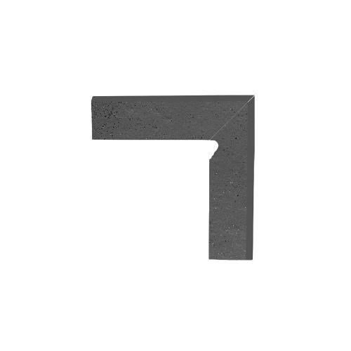 Paradyz Semir Grafit плинтус правый структурный 2-х элем