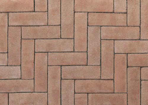 Ручной формовки брусчатка Vandersanden опесоченная Ard?che (розовая, рельефная, опесоченная)