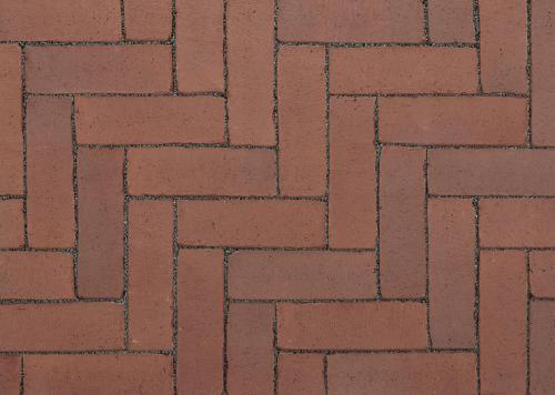 Ручной формовки брусчатка Vandersanden шлифованная, устаренная Burgos Nostalgie (коричневая, гладкая, устаренная, не опесоченная)