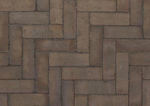 Ручной формовки брусчатка Vandersanden шлифованная Cadiz unsanded (коричневая, гладкая, не опесоченная)