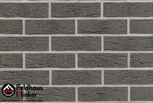 Клинкерная плитка Feldhaus Klinker anthracit mana R735NF14 240x14x71 мм