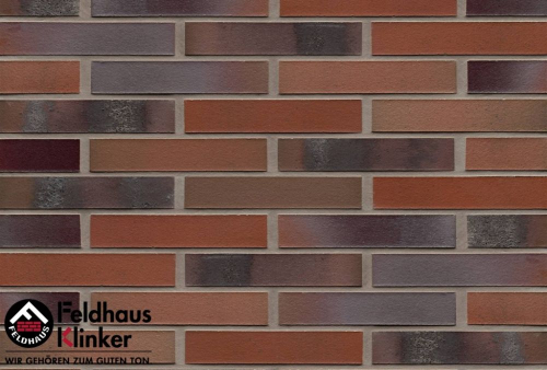 Клинкерная плитка Feldhaus Klinker carbona carmesi colori R560NF14 240x14x71 мм