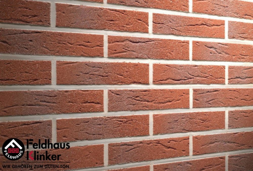 Клинкерная плитка Feldhaus Klinker carmesi antic mana R335NF14 240x14x71 мм