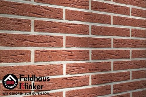 Клинкерная плитка Feldhaus Klinker carmesi mana R435NF9 240x9x71 мм