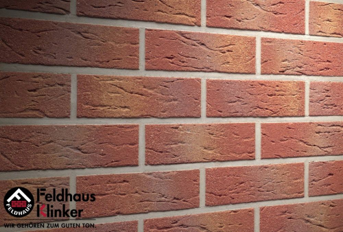 Клинкерная плитка Feldhaus Klinker carmesi multi mana R332NF14 240x14x71 мм