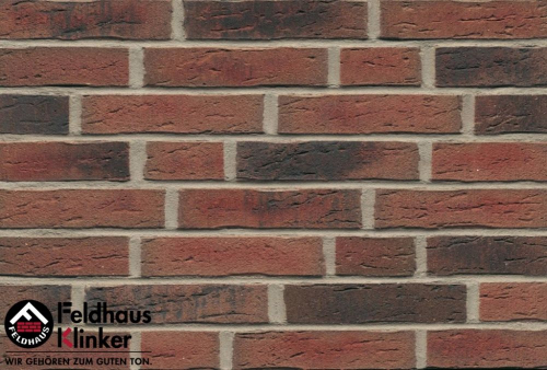 Клинкерная плитка Feldhaus Klinker sintra carmesi nelino R685WDF14 215x65x14 мм