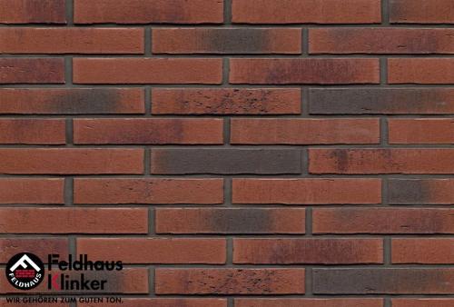Клинкерная плитка Feldhaus Klinker vascu carmesi carbo R754DF14 240x52x14 мм