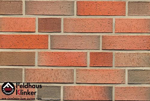 Клинкерный кирпич Feldhaus Klinker K301NF lava rugo