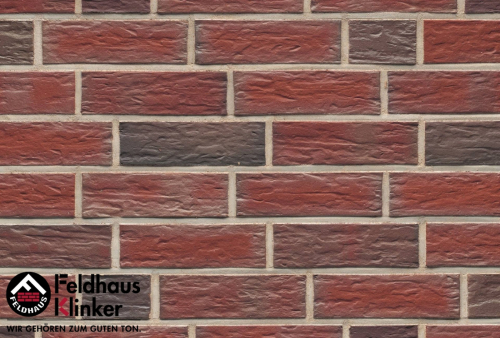 Клинкерный кирпич Feldhaus Klinker K396NF lava maron senso