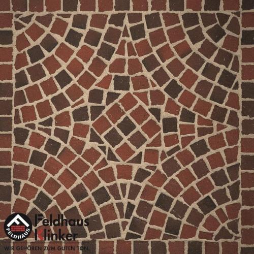 Клинкерная мозаика FeldHaus Klinker Gala flamea M403DF