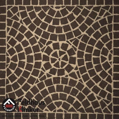 Клинкерная мозаика FeldHaus Klinker Umbra plano M502DF
