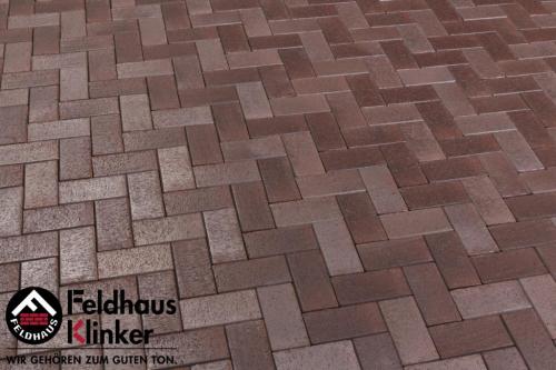 Тротуарный кирпич FeldHaus Klinker Gala ferrum