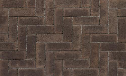 Ручной формовки брусчатка Vandersanden опесоченная Rhone (черная, рельефная, опесоченная)