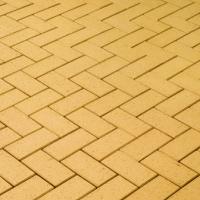 Клинкерная брусчатка CRH Kamenz (желтая, рельефная)