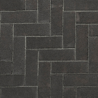Ручной формовки брусчатка Vandersanden опесоченная Morvan (черная, рельефная, опесоченная)