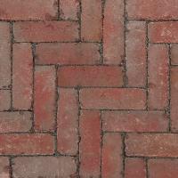 Ручной формовки брусчатка Vandersanden шлифованная, устаренная Murcia Nostalgie (красная, серая, гладкая, устаренная, не опесоченная)