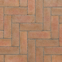 Ручной формовки брусчатка Vandersanden опесоченная Bergerac (оранжевая, серая, рельефная, опесоченная)