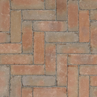 Ручной формовки брусчатка Vandersanden опесоченная, устаренная Bergerac Nostalgie (оранжевая, серая, рельефная, опесоченная, устаренная)