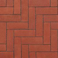 Ручной формовки брусчатка Vandersanden опесоченная Bretagne (красная, рельефная, опесоченная)